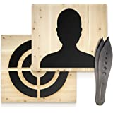 BODRUM WOODEN Throwing Wooden Target   Premium Pine Wood     Industrial Hanging Chain   All Axes Hatchets & Knives   Double S