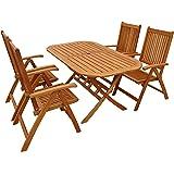 """Indoba Gartenmöbel Set, 5-teilig""""Bangor"""" - Gartenset - Serie Bangor, braun, 150 x 85 x 74 cm, IND-70063-BASE5"""