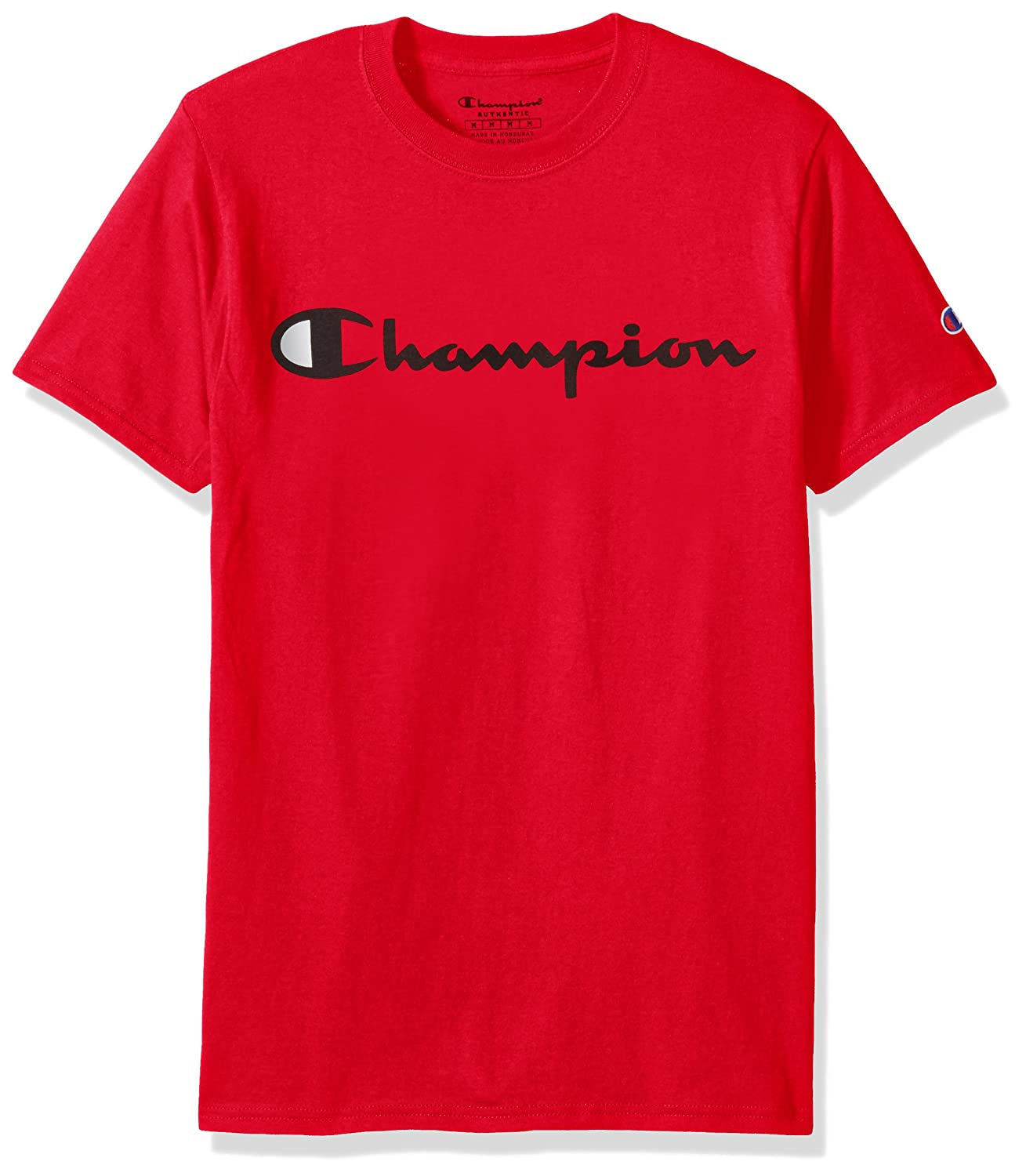 3879d3ea Champion fbb Men's Cotton Classic Graphic Jersey T-Shirt (Red, Medium):  Amazon.in: Clothing & Accessories