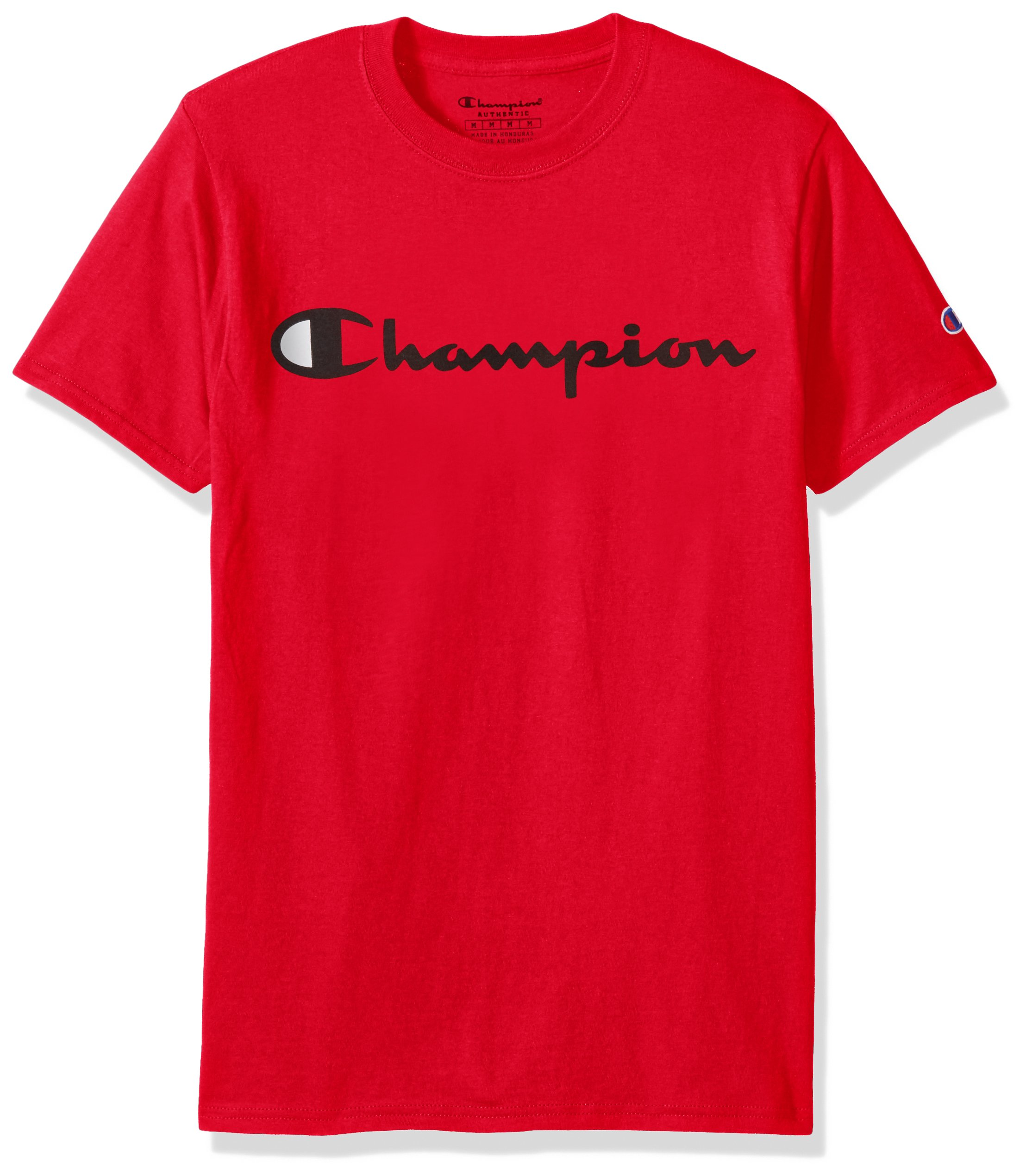 1b6514f4c642 Champion Men's Classic Jersey Script T-Shirt, Athletic Red, 2XL ...