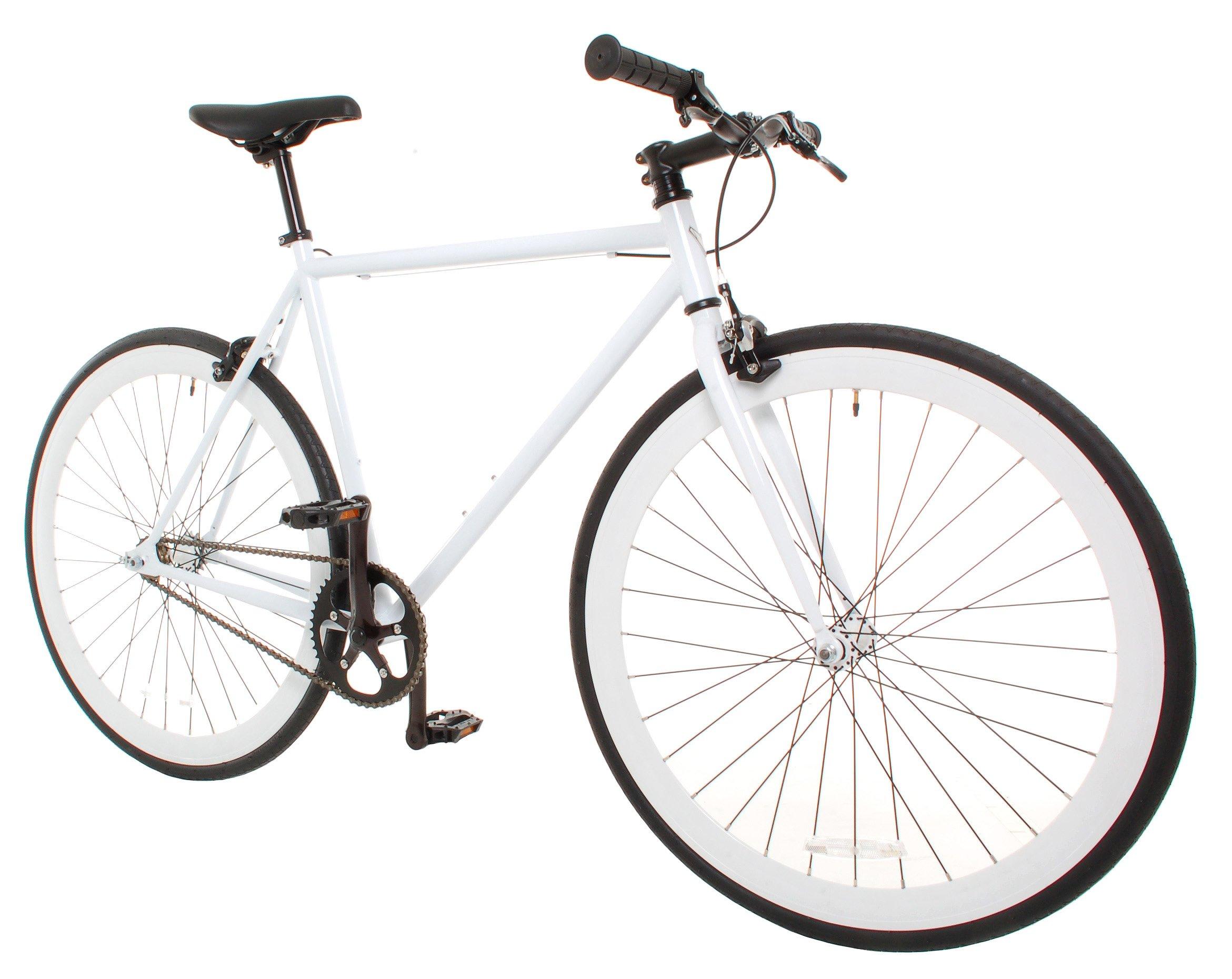 New Fixie Bike Vilano Medium 54cm Rampage Fixed Gear Bike Fixie Road Bike, Whit
