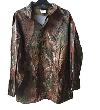 NEW REAL TREE Design Camouflage Wind   Waterproof hooded Rain Jacket Coat  unique (LARGE) d0cd235a03