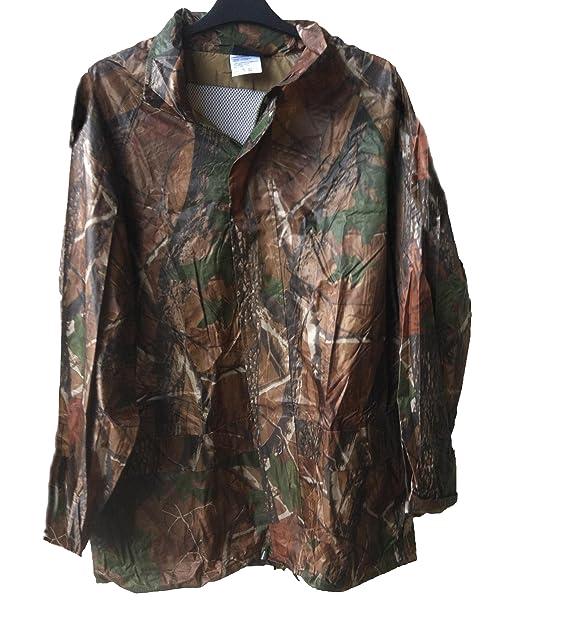 724565cafae9 NEW REAL TREE Design Camouflage Wind   Waterproof hooded Rain Jacket Coat  unique (LARGE)