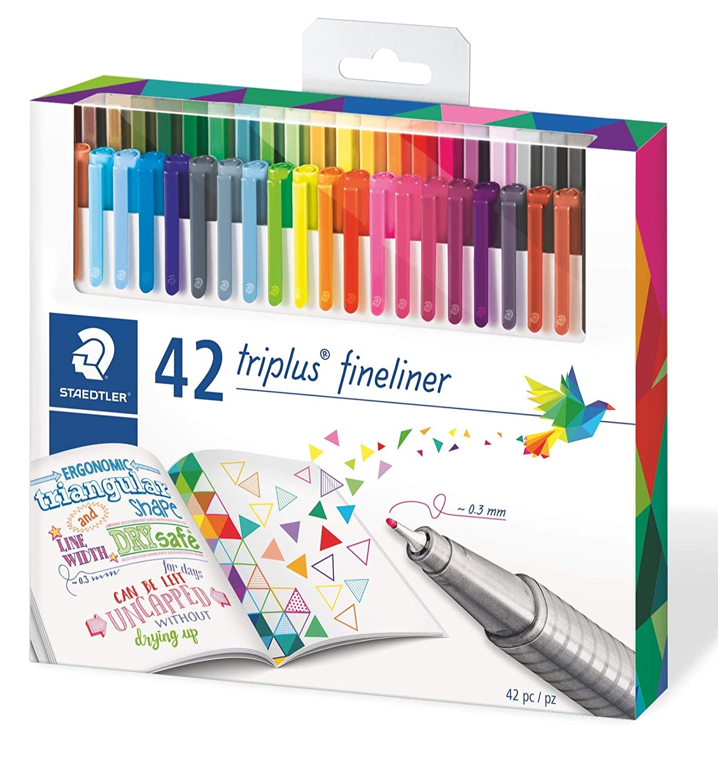 Amazon.com   Staedtler 334C42 Triplus Fineliner 42-Color Assorted Super  Fine Water-Based Marker   Office Products 538020a186