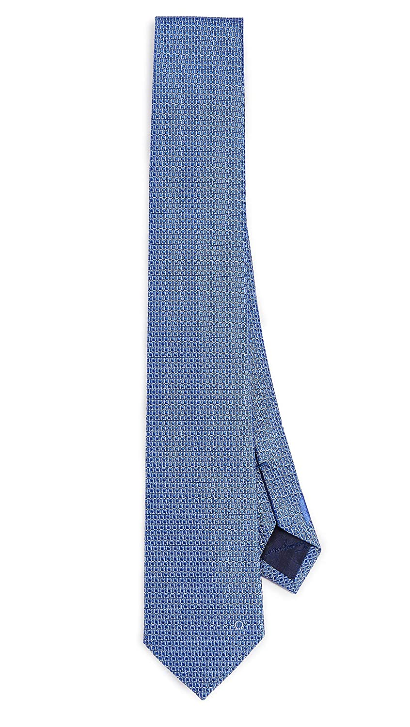 Salvatore Ferragamo Men's Tonal Gancini Tie Blue One Size Salvatore Ferragamo-Men's