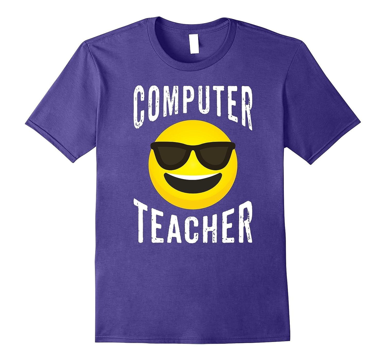 Computer Teacher Shirt - Cool Emoji Computer Teacher T-shirt-FL
