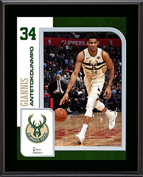 Giannis Antetokounmpo Milwaukee Bucks 10.5 quot  x 13 quot  Sublimated  Player Plaque - NBA Team Plaques f43fd6aee