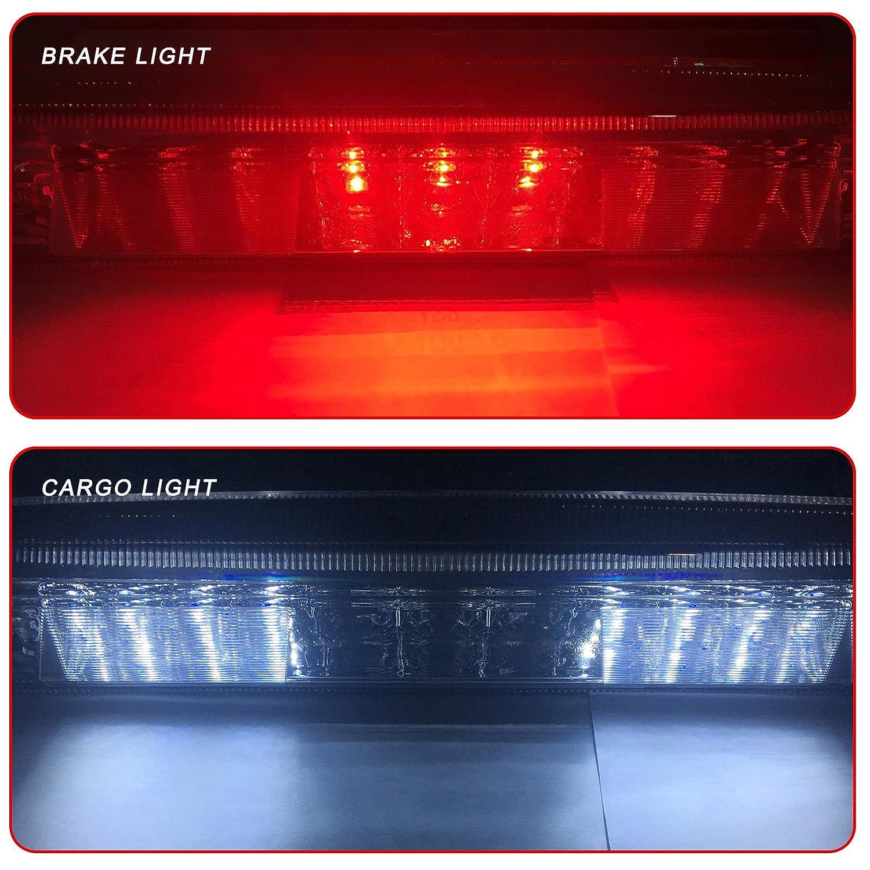 LED 3rd Brake Light Carge Light High Mount Brake Light for 2009-2014 Ford F-150 Smoke Lens LED Light ECCPP BHBU0503A2172