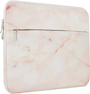 """LuvCase Laptop Protective Sleeve Waterproof Case Bag with Pocket Compatible Mac 12"""" A1534/ Air 11.6 inch, Surface Pro 5,4,3, Chromebook, Acer, Asus, Notebook (Pink Marble 3)"""