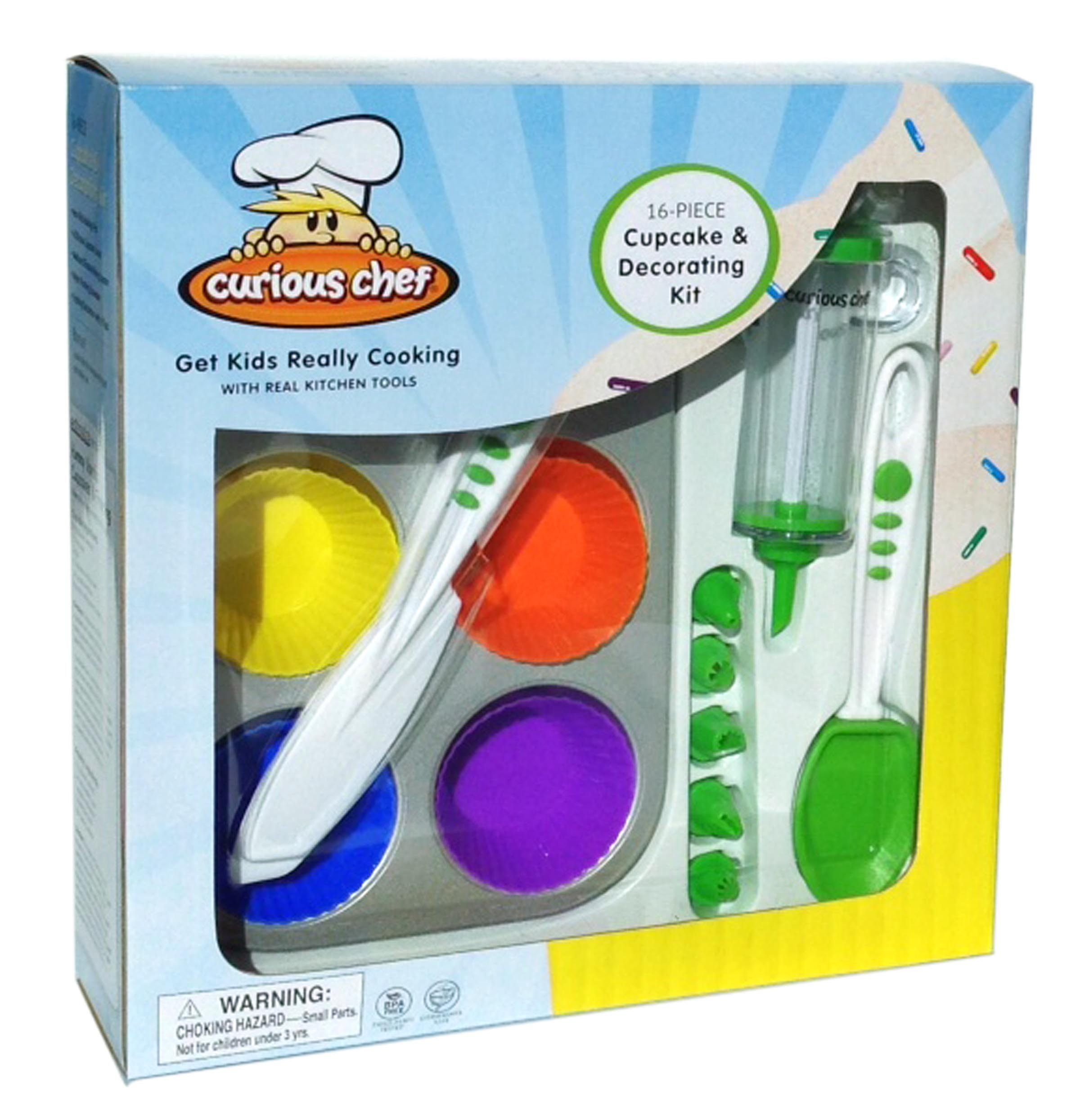 Curious Chef TCC50165 16-Piece Cupcake and Decorating Kit, Child, Multicolored by Curious Chef (Image #2)