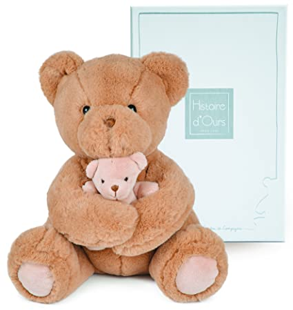 Histoire d ours peluche mamá y bebé oso beige beige