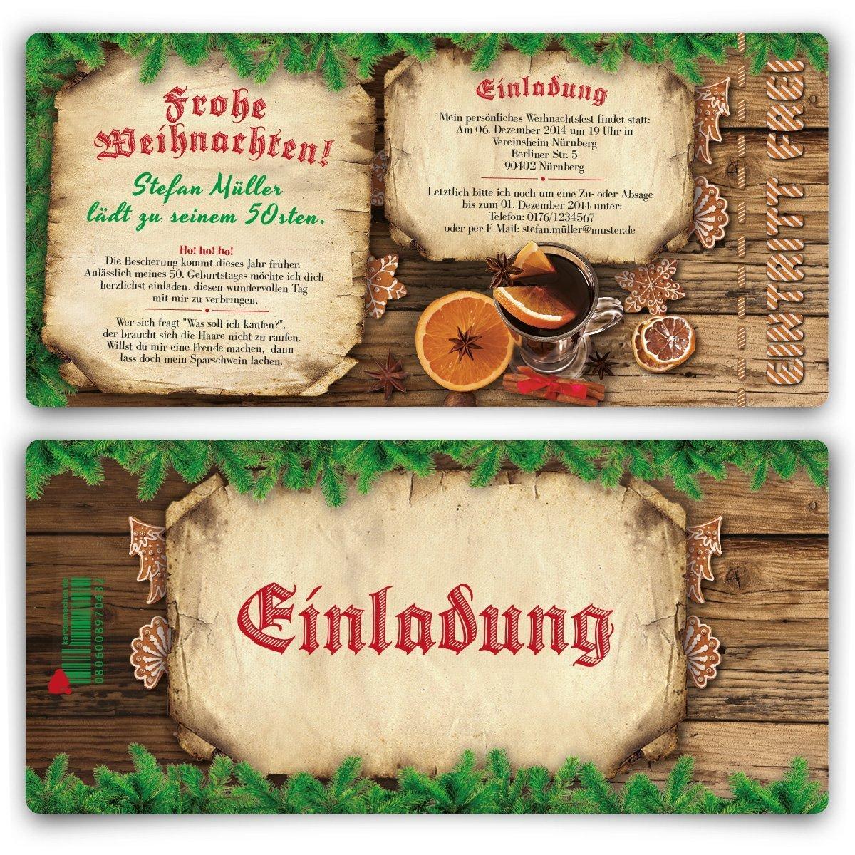 Einladungskarten zum Geburtstag (60 Stück) als Eintrittskarte Weihnachten Advent Silvester Winter B00O8XU5NW   Sale Outlet    Praktisch Und Wirtschaftlich    Exquisite Handwerkskunst