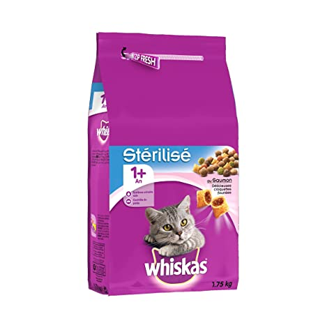 whiskas - Alimento seco de Pollo para Gatos esterilizados: Amazon.es: Productos para mascotas