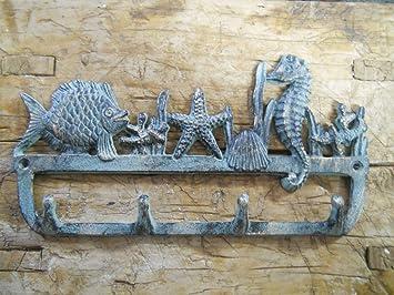 Amazon.com: Ganchos vintage antiguo de hierro fundido ...
