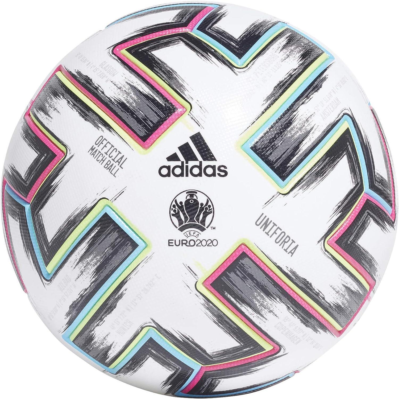 adidas UNIFO Pro Balón de Fútbol, Mens, White/Black/Signal Green ...