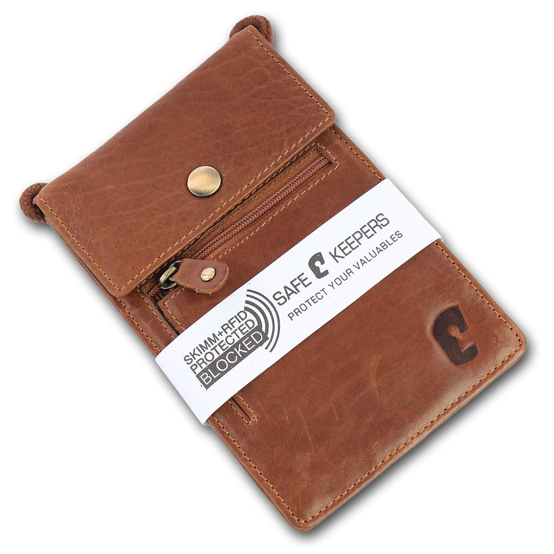 Braun Safekeepers Sac de poitrine en cuir Marron L