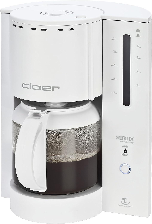Cloer 5221 Cafetera Filtro Electrica White, 1000 W, 1.8 litros, plástico, Blanco: Amazon.es: Hogar