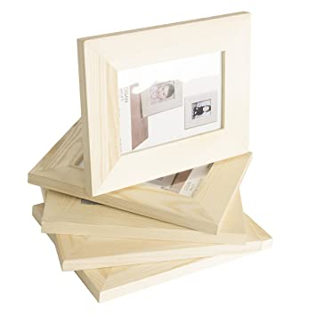 solid diy unfinished wood picture frame 4x6 inches great for kids art craft projects set