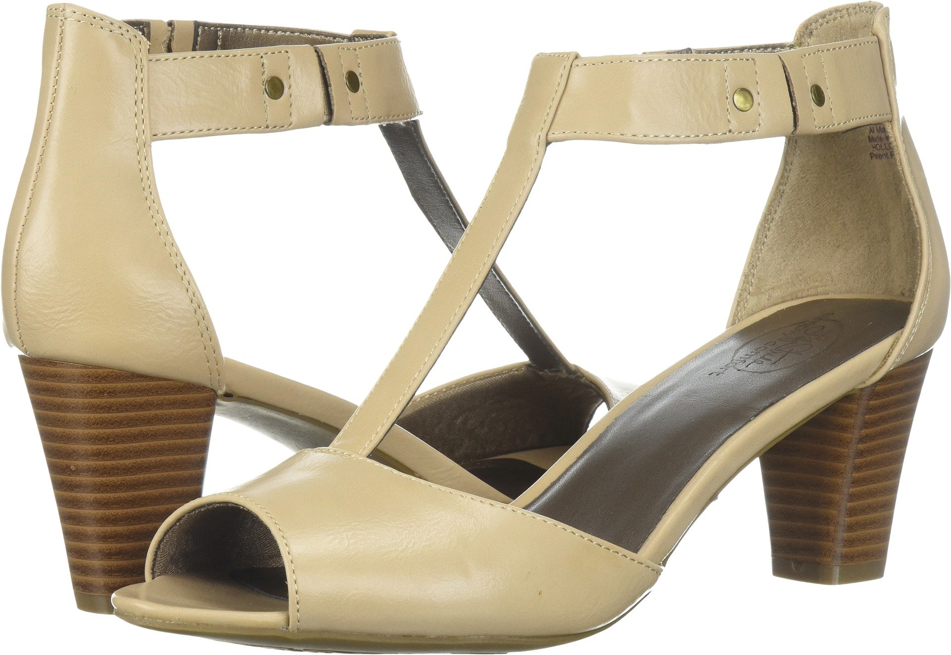 LifeStride Women's Holloway Heeled Sandal, Taupe, 6.5 M US