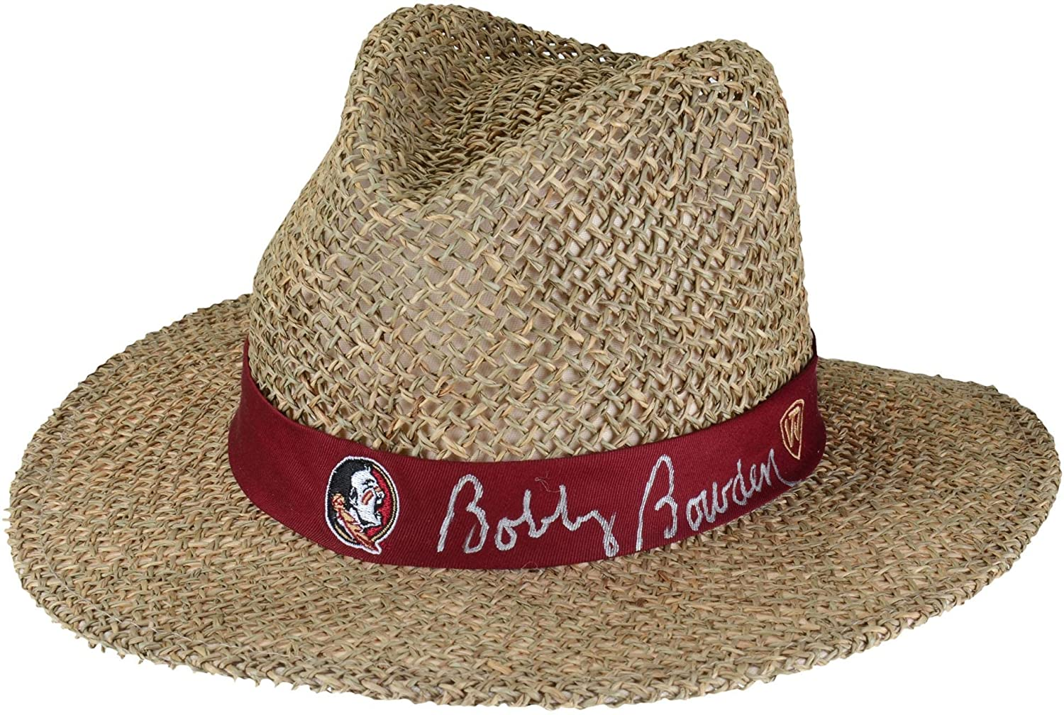 Bobby Bowden Florida State Seminoles Autographed Straw Hat - Fanatics Authentic Certified - College Autographed Miscellaneous Items
