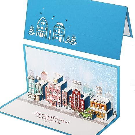 Amazon.com: Tarjeta de felicitación de Navidad con sobre ...