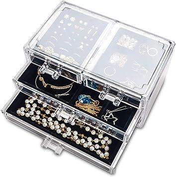 Multi-size Black Empty Jewelry Bracelet Rings Earring Storage Box Gift Organizer