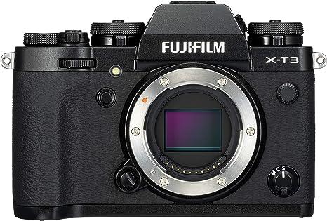 Fujifilm X-T3 - Cámara de objetivo intercambiable sin espejo, con sensor APS-C de 26,1 Mpx, video 4K/60p DCI, pantalla táctil, WIFI, Bluetooth, Negro