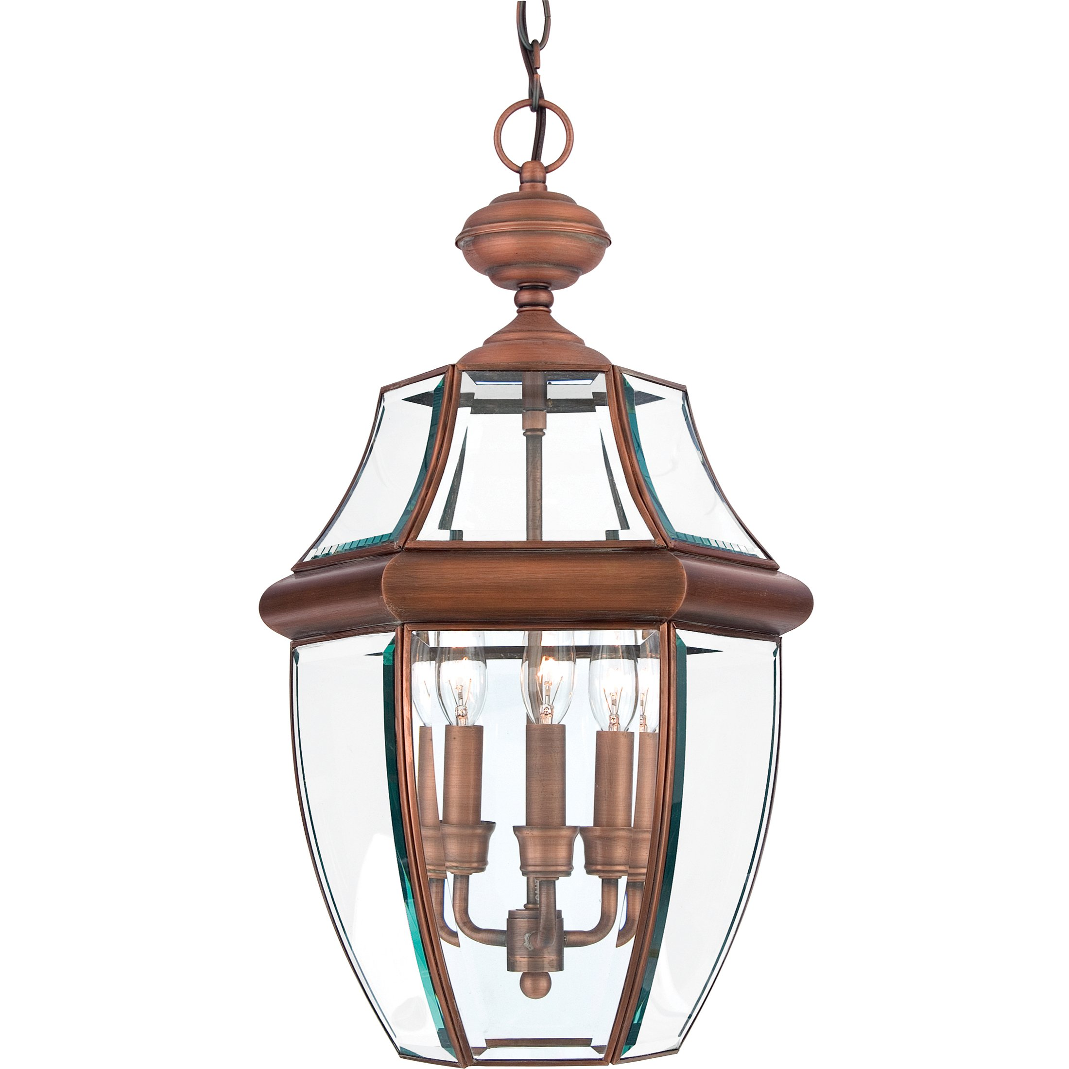 Quoizel NY1179AC Newbury 3-Light Outdoor Hanging Lantern, Aged Copper by Quoizel