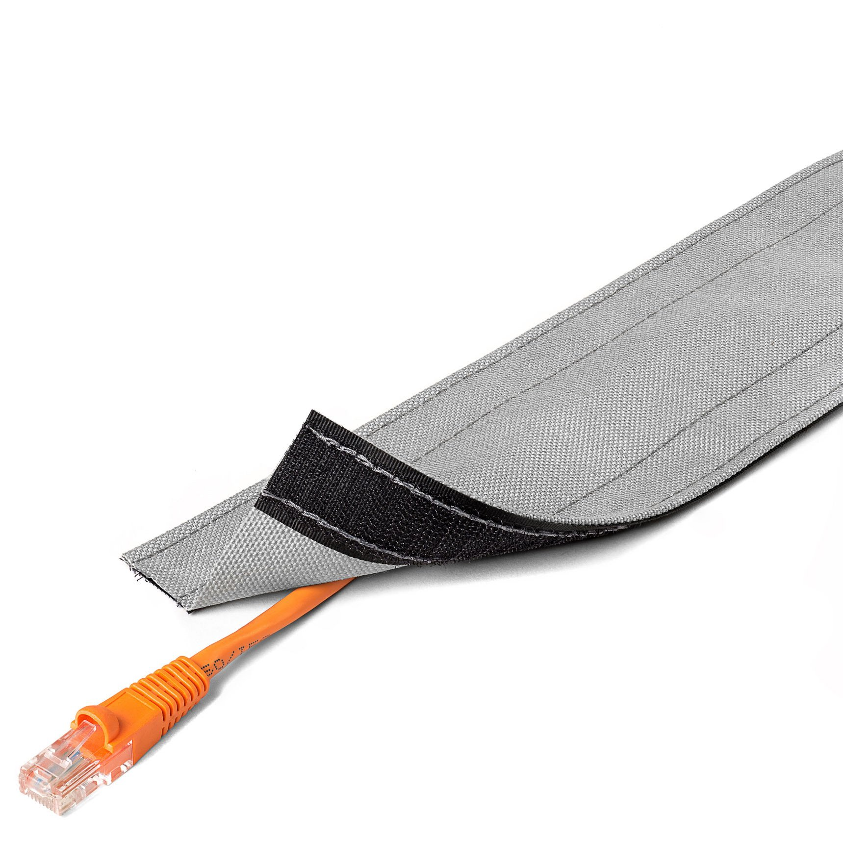 5'' Wide Dura Race Carpet Cord Cover - 100FT Length - Color: Gray