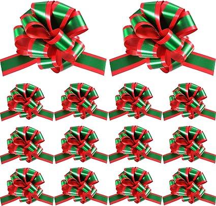 manualidades 4pcs//2cm decoraci/ón de boda Juego de cinta de grogr/én de Navidad para regalo de fiesta lazos para el pelo