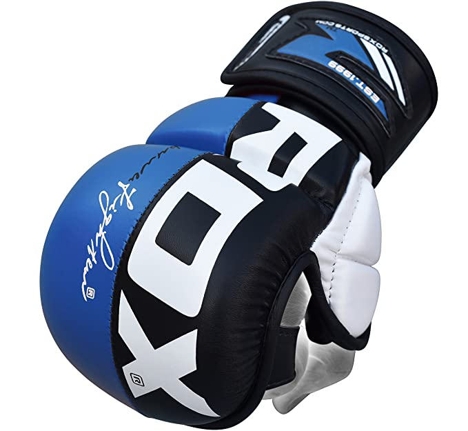 34 opinioni per RDX Guanti MMA Maya Hide In Cuoio Grappling UFC Combattimenti Gabbia Sparring