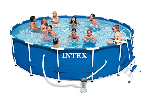 Intex Piscina Sobre Suelo Frame Pool Set Rondo, TÜV/GS, Azul ...