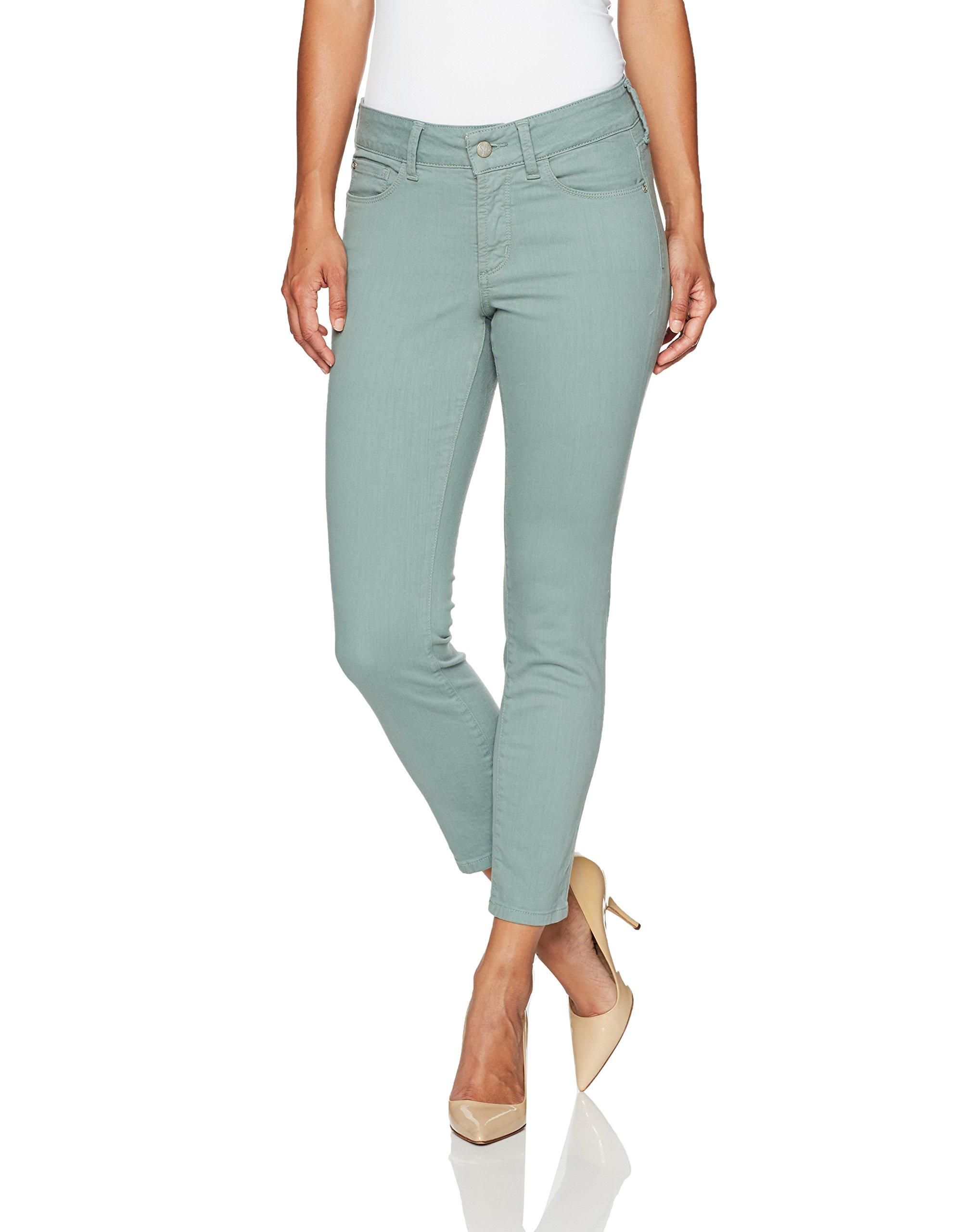 NYDJ Women's Petite Size Alina Skinny Convertible Ankle Jeans, Calypso, 14P