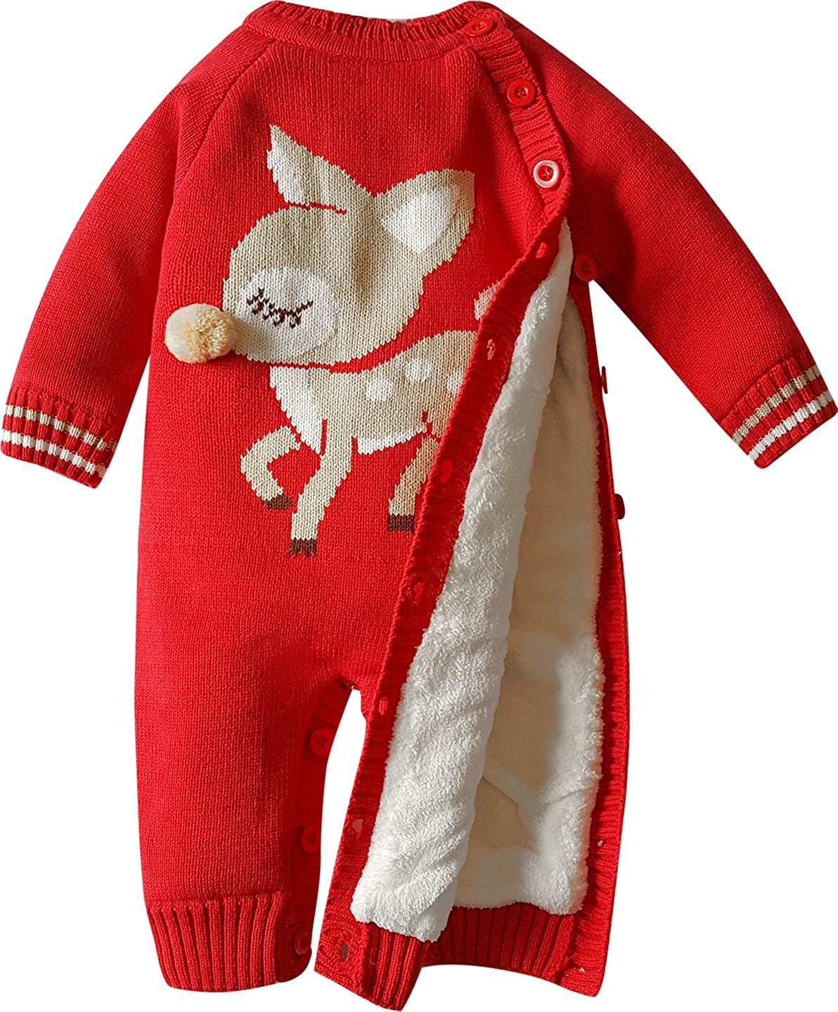 fef37121e ZOEREA Baby Sweater Adorable Pattern Infant Thick Romper Suit 0-18 ...