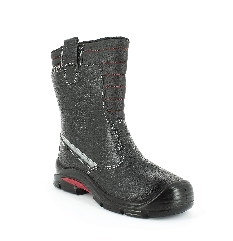 S3 SRC CI sans m/étal Montantes Hommes Chaussures de s/écurit/é Imperm/éable L/ég/ères et Respirantes Foxter Cuir Noir