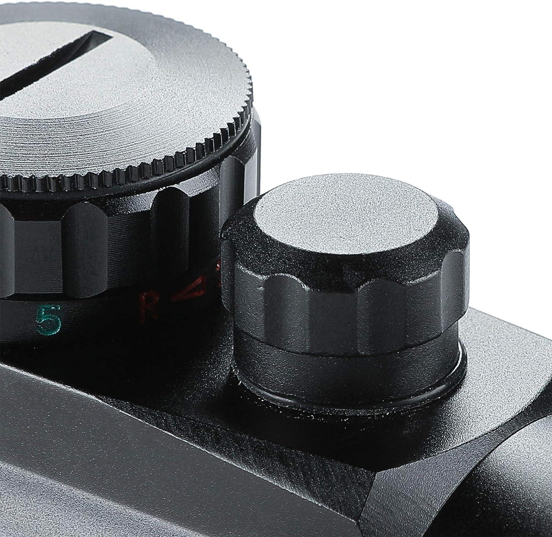 Fithalt Telescopio Monocular 1x40mm con 20mm Riel de Montaje Punto Rojo y Verde
