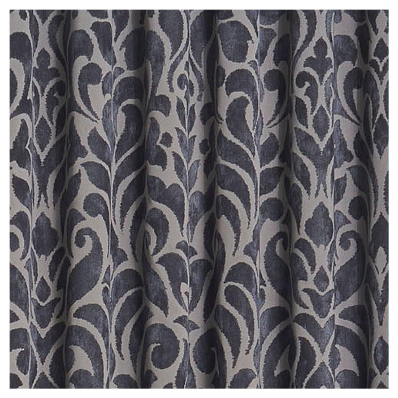 52 x 63 KOZDIKO Eclipse Thermaweave Carven Blackout Window Curtain Panel Grey