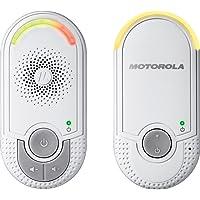 """Motorola MBP 8 - Vigilabebés audio""""plug-n-go"""" con modo eco y luz nocturna, color blanco"""