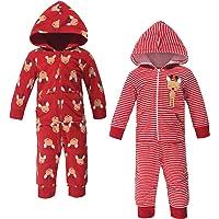 Hudson Baby Overol de Forro Polar, Monos y Playsuits Mono Largo para bebés niñas