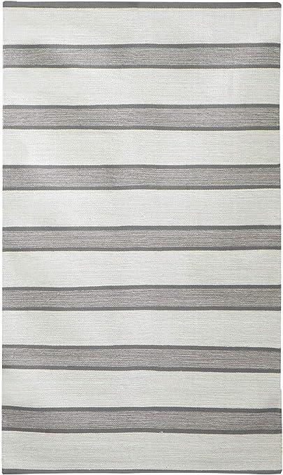 Alfombra Jute & Co. Rugs, Dim. 70 x 100 cm, 100% algodón, Gris Claro y Gris Oscuro, Talla única: Amazon.es: Hogar