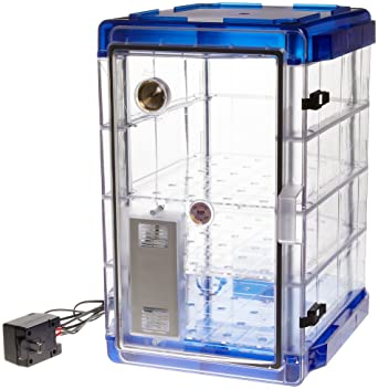 Bel Art Secador Vertical Profile Clear 4.0 Auto Desiccator Cabinet With  Blue End