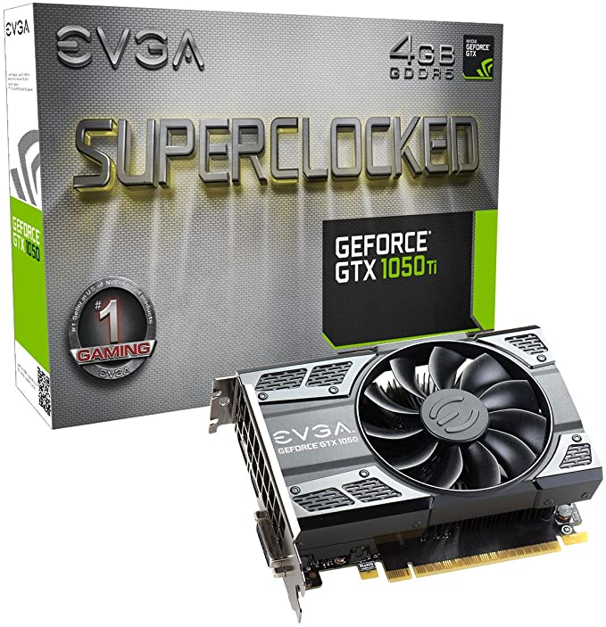 EVGA GeForce 04G-P4-6253-KR, GTX 1050 Ti SC GAMING, 4GB GDDR5, DX12 OSD Support (PXOC) Graphics Card