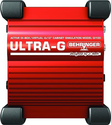 Behringer GI100 - Accesorios para guitarra, Negro/Rojo: Amazon.es ...