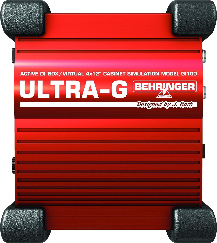 Professional Battery/Phantom Powered DI-Box with Guitar Speaker Emulation Behringer GI100