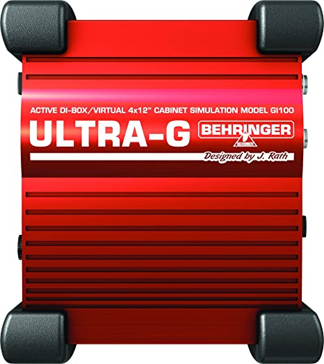 Behringer Ultra-G GI100 Professional Battery/Phantom Powered DI-Box with  Guitar Speaker Emulation