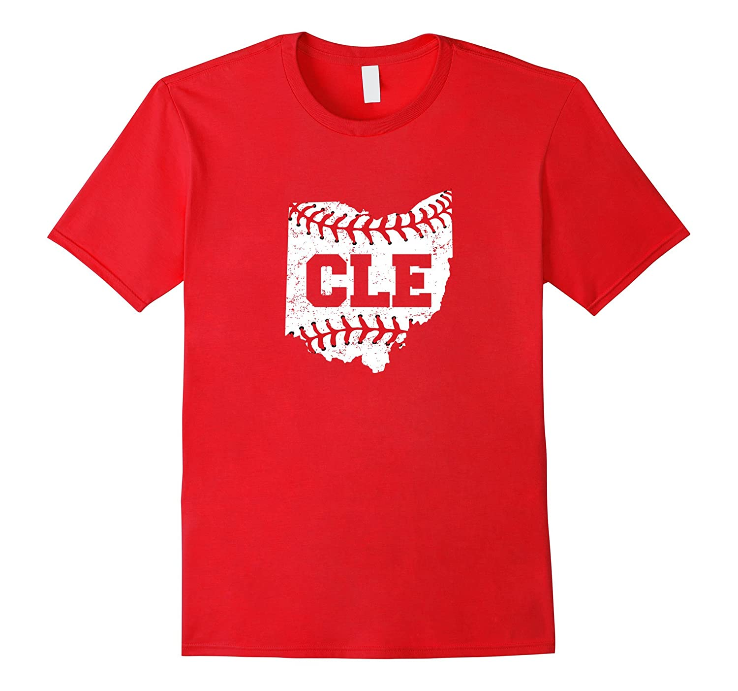 Distressed Cleveland Ohio Baseball CLE T-Shirt-T-Shirt