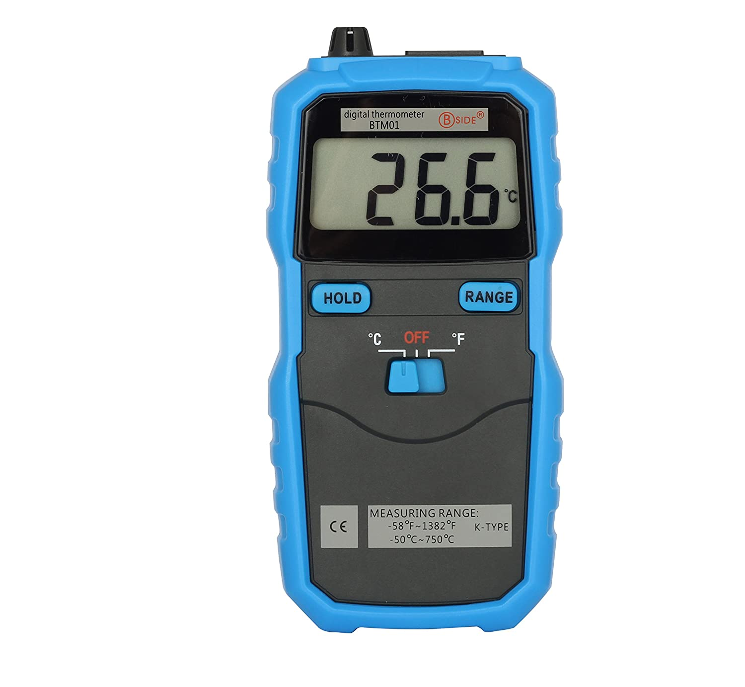 Bside BTM01 Digital Thermometer K Type Thermocouple Probe LCD Display C/F Switch