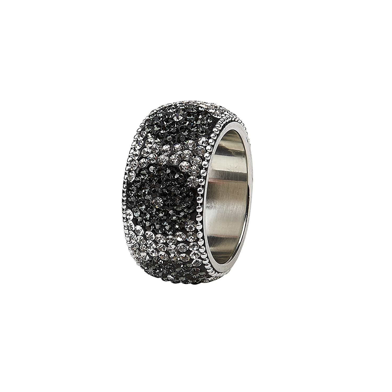 IMPULSE! Dahlia Napkin Ring (Set of 4), Black 9505SET-4