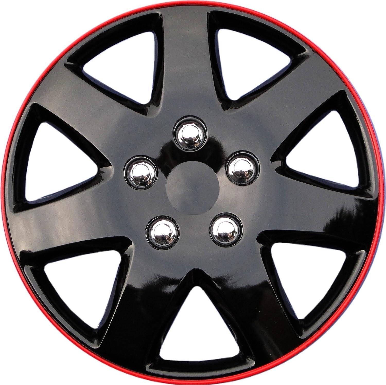 Drive Accessories KT-962-15IB+R, Toyota Paseo, 15' Ice Black Replica Wheel Cover, (Set of 4) 15 Ice Black Replica Wheel Cover AutoSmart KT962-15IB+R