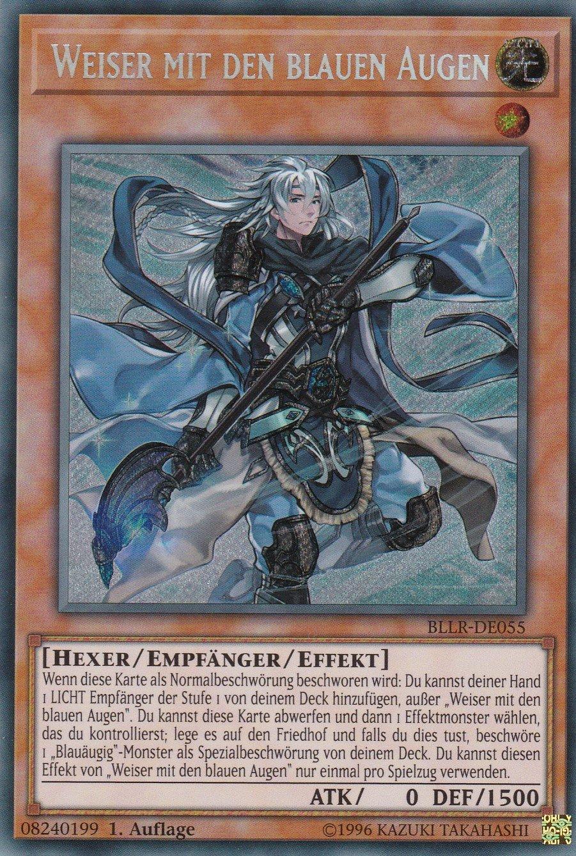 BLLR-DE055 - Weiser mit den blauen Augen - Secret Rare - Yu-Gi-Oh ...